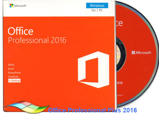 چین اصلی Office 2016 Professional FPP، Microsoft Office Professional Plus 2016 DVD کارخانه